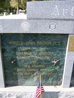 Harold John Arthur
