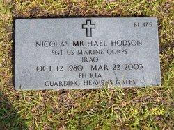 Sgt Nicolas Michael Hodson