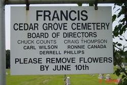 Francis Cedar Grove Cemetery