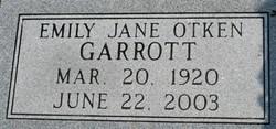 Emily Jane <i>Otken</i> Garrott