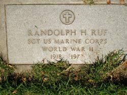 Sgt Randolph Ruf