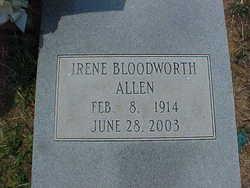 Jewell Irene <i>Bloodworth</i> Allen