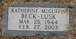 Katherine June <i>McGuffin Beck</i> Lusk