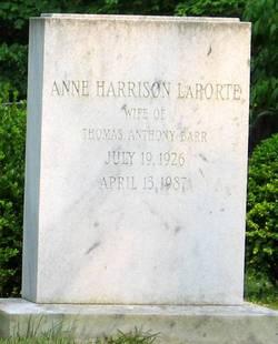 Anne Harrison <i>LaPorte</i> Barr