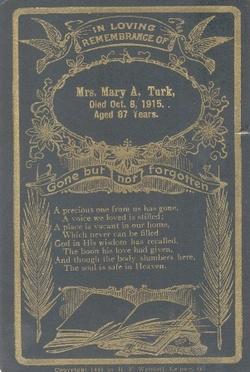 Mary Ann <i>Marshall</i> Turk