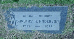 Dorothy A Anderson