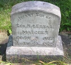 Infant Son Matzger