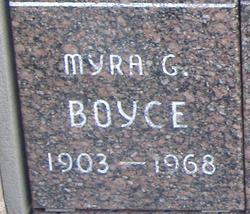 Myra G Boyce