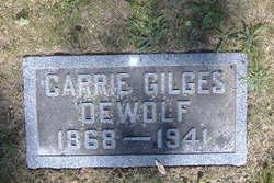Caroline Evangeline Carrie Ellen <i>Gilges</i> DeWolf