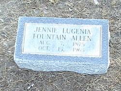 Jennie Lugenia Lou <i>Fountain</i> Allen