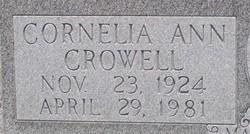 Cornelia Ann <i>Crowell</i> Bolling