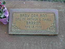 Baby Ora Ann Barron