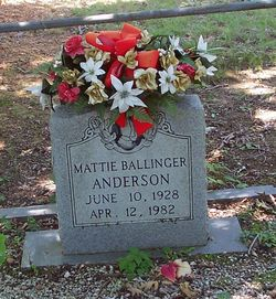 Mattie <i>Ballinger</i> Anderson