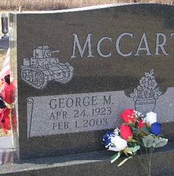 Sgt George Morton McCarthy, Jr