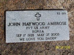 Pvt John Haywood Ambrose