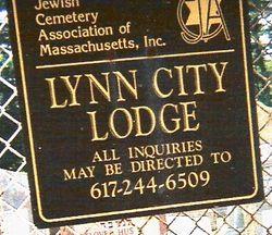 Congregation Ahabat Shalom of Lynn City Lodge Ceme