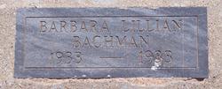 Barbara Lillian Bachman