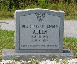 Ora Chapman <i>Ledford</i> Allen