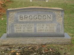 Julia Ann <i>Wilson</i> Brogdon