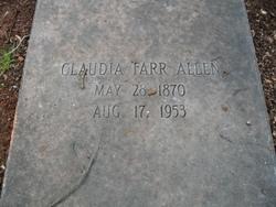 Claudia <i>Farr</i> Allen