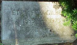 Etta <i>Fox</i> Gilbert