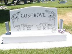 Alice Elizabeth <i>Cosgrove</i> George
