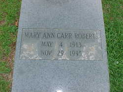 Mary Ann <i>Carr</i> Roberts