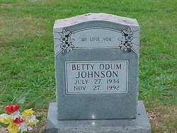 Betty Odum Johnson