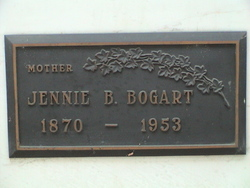 Jennie Belle <i>Dunagan</i> Bogart