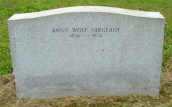 Annie A <i>Wolf</i> Sargeant