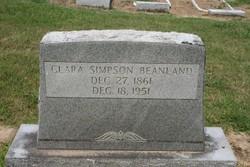 Clara <i>Simpson</i> Beanland