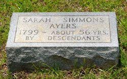 Sarah Elizabeth <i>Simmons</i> Ayers
