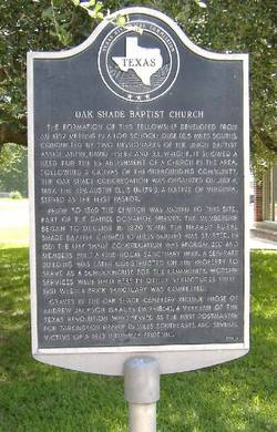 Oak Shade Cemetery