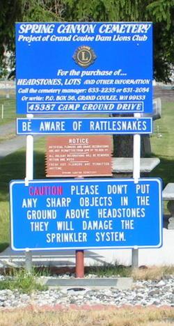 Spring Canyon Cemetery