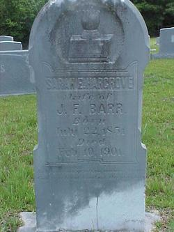 Sarah Emily <i>Hargrove</i> Barr