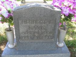 Herbert Frederick Lang