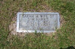 Sarah M <i>Thedford</i> Harris