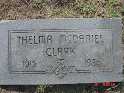 Thelma <i>McDaniel</i> Clark