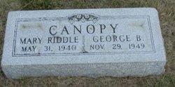 Mary <i>Riddle</i> Canopy