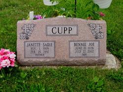 Janette Sadie <i>Rowe</i> Cupp