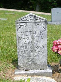 Margaret Malinda <i>Underwood</i> Aaron