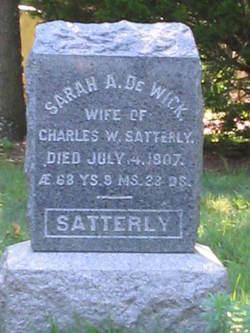 Sarah A. <i>De Wick</i> Satterly