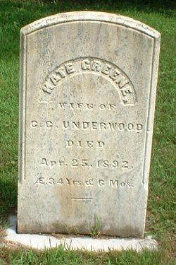 Kate <i>Greene</i> Underwood