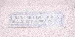 Irena Matilda <i>Corfman</i> Adams
