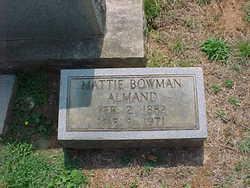 Mattie <i>Bowman</i> Almand