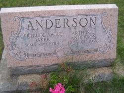 Gravestone of Gertrude (Argue, Anderson) Baker