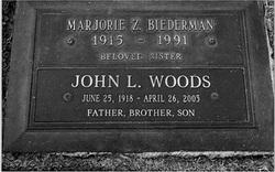 Marjorie Z <i>Woods</i> Biederman