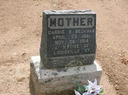 Carrie Belle <i>Burkett</i> Beckham