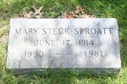 Mary <i>Steck</i> Sproatt