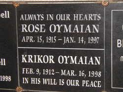 Rose <i>Sookiasian</i> Oymaian